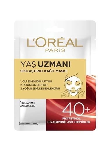 L'Oréal Paris Yaş Uzmanı Sıkılaştırıcı Kağıt Maske 40+ Renksiz